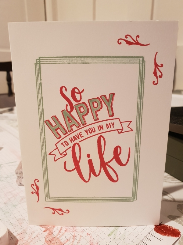 Simple two tone card