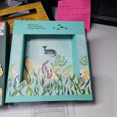 Simple Box card with Whale of a Time DSP