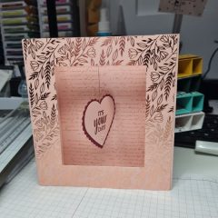 Simple Box card with Heart Punch